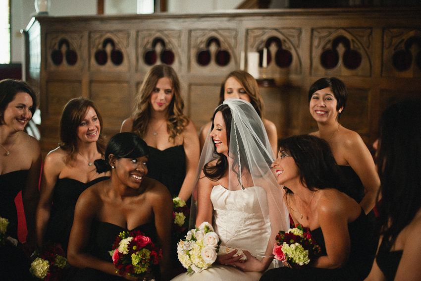 Third Presbyterian Church, black bridesmaids dresses, Bridal party, Birmingham Alabama