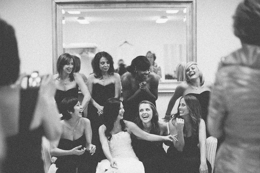 bridesmaids, before ceremony, Birmingham Alabama