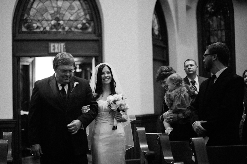 Father and Bride, wedding ceremony, Third Presbyterian Church, Birmingham Alabama