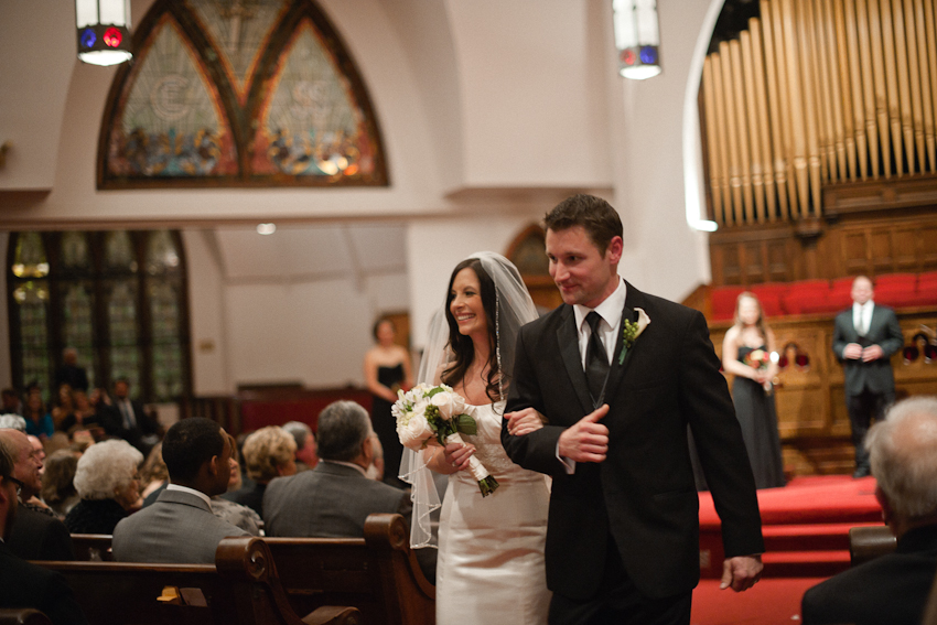 Bride and groom, wedding ceremony, Third Presbyterian Church, Birmingham Alabama