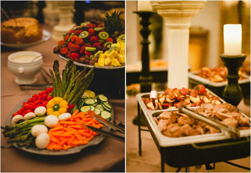 Gabrella Manor, reception food, birmingham alabama, wedding reception, reception vendors
